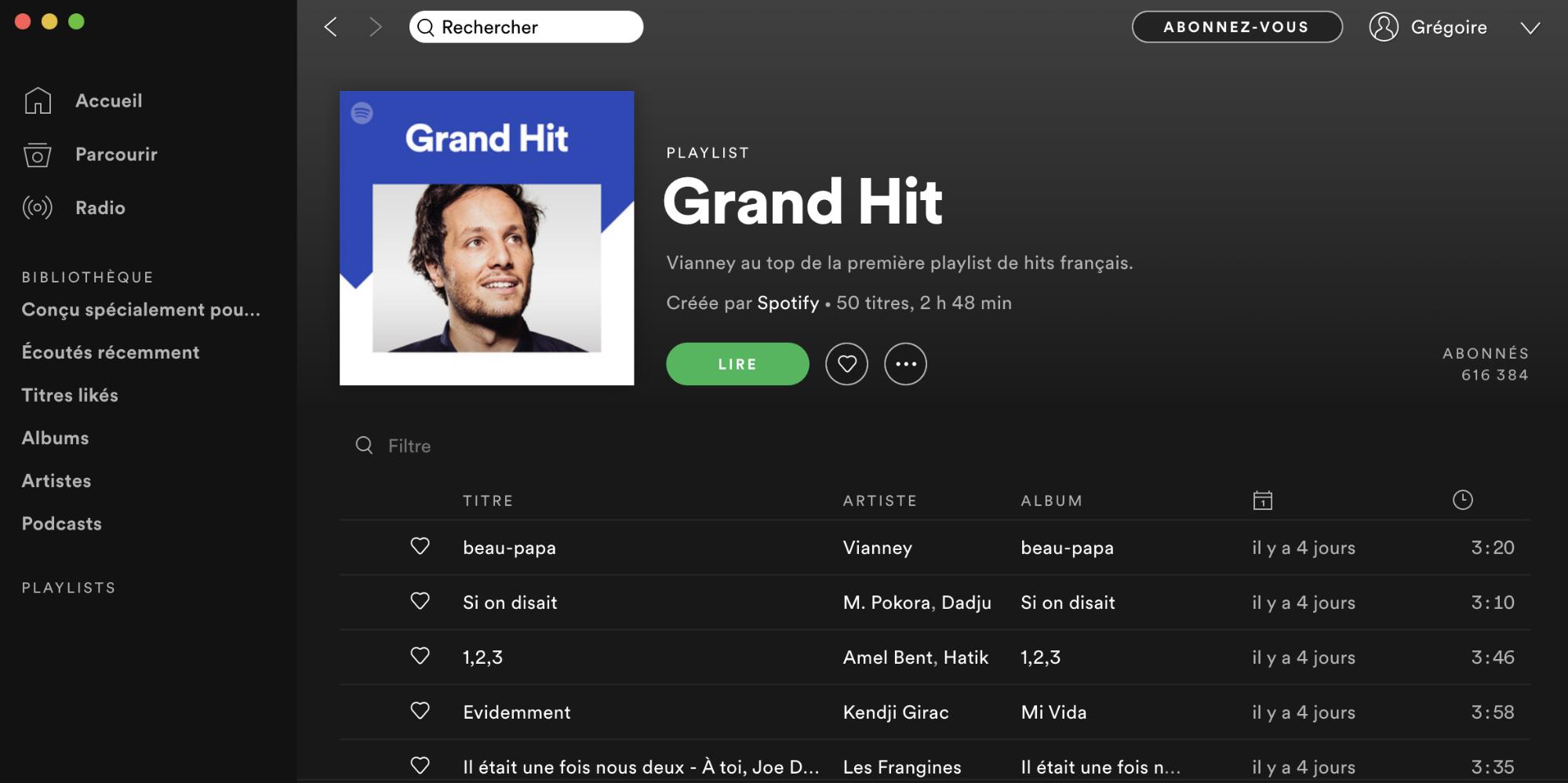 Playlist Grand Hit