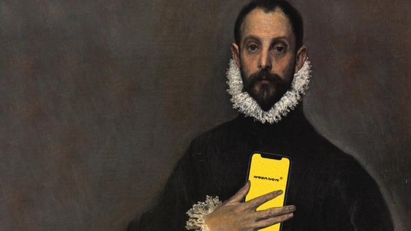 """""""El caballero de la mano en el pecho"""" with the woonivers app"""