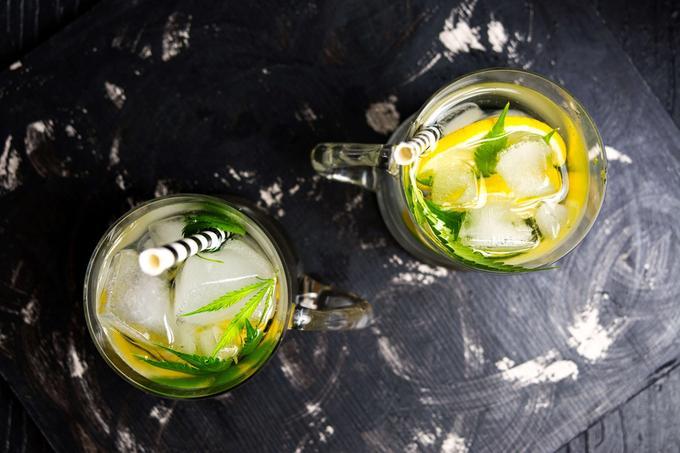 Cannabis-infused lemonade drink