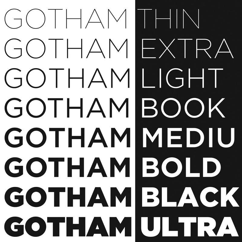 Type Specimen · Gotham