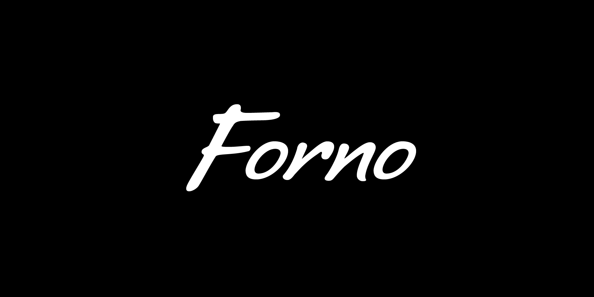 Forno font nameplate