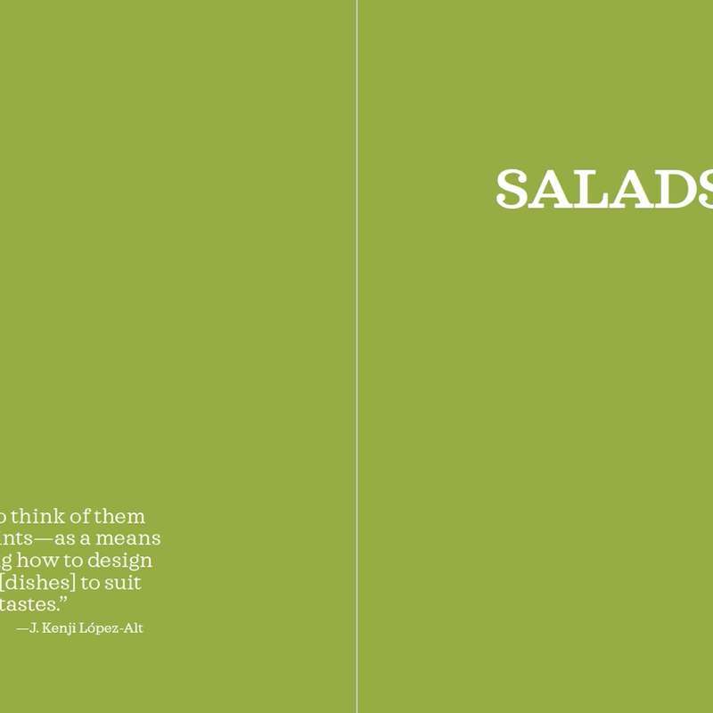 The Method · Salads: opening page
