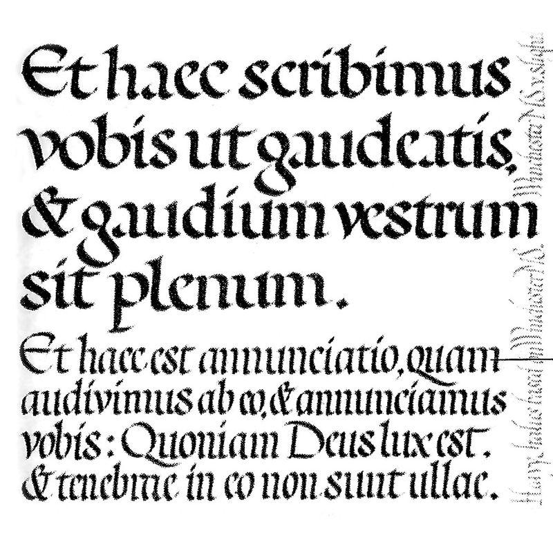 Edward Johnston's study for the definitive Foundational (1919)