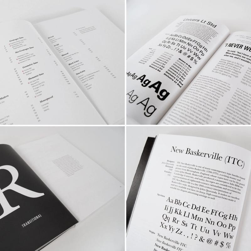 Font Catalog spreads