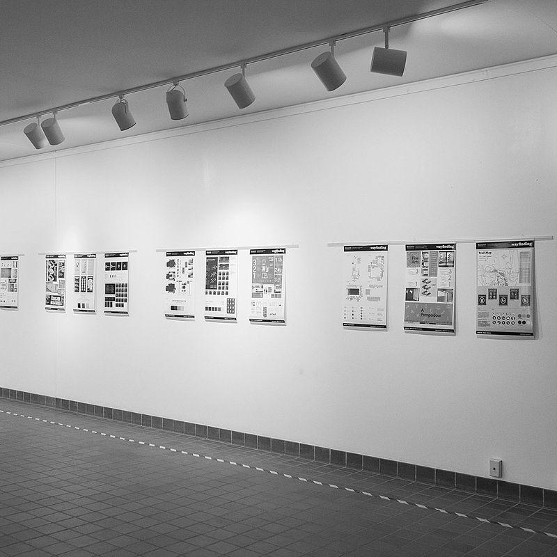 190403 BU Wayfinding Exhibition Setup — photography by Marc Newton