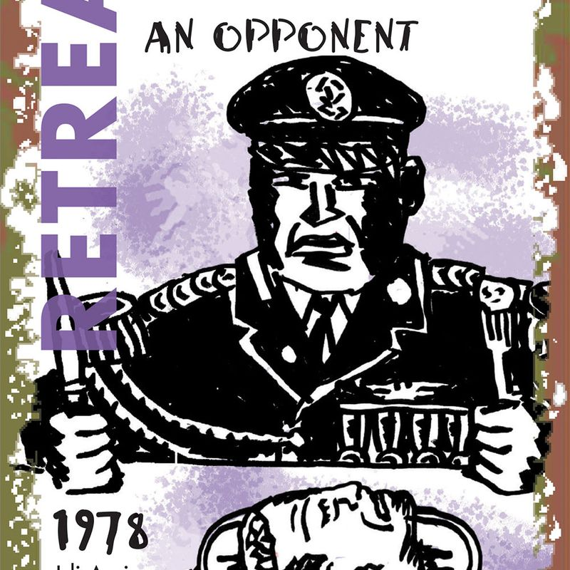 "Knickerbocker: ""Consequences of War"" Card: Retreat Take Away 1978"