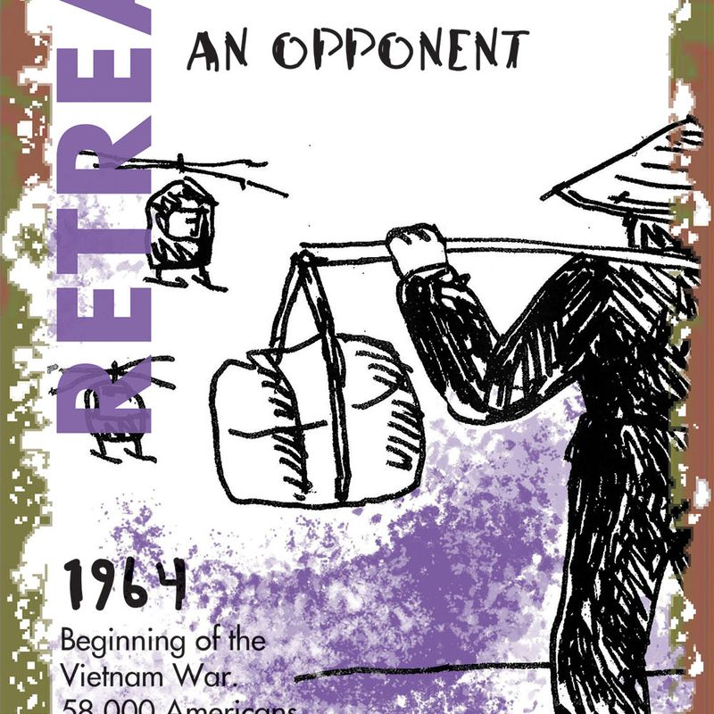 "Knickerbocker: ""Consequences of War"" Card: Retreat Take Away 1964"