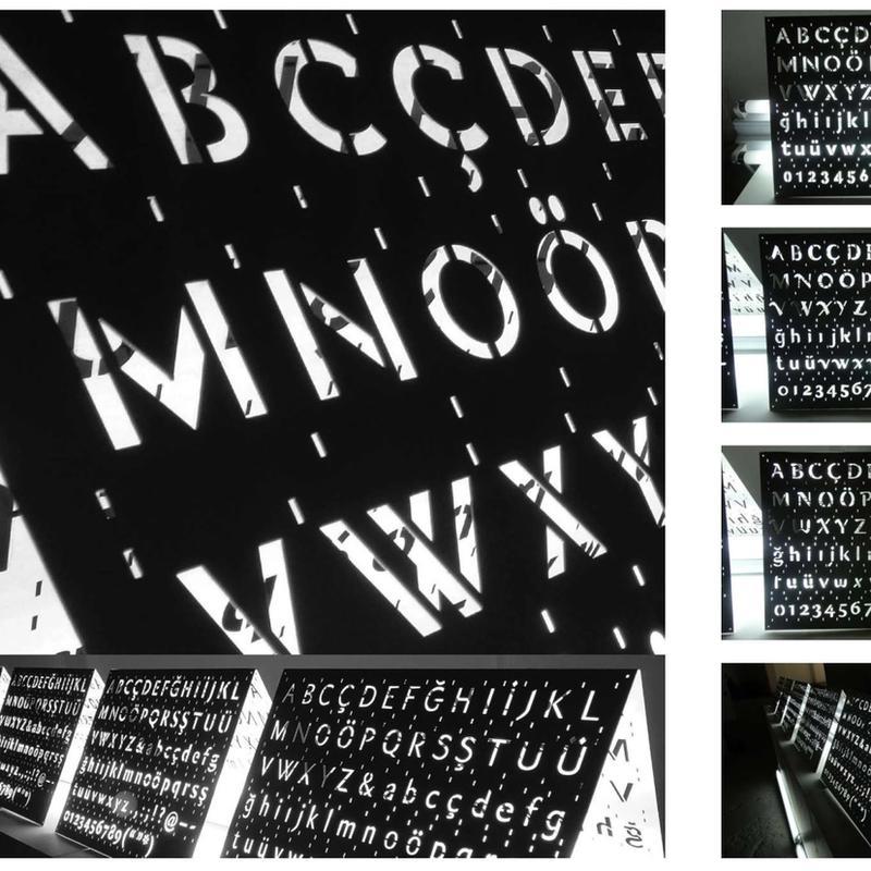 Type Design: Stainless Steel Stencil