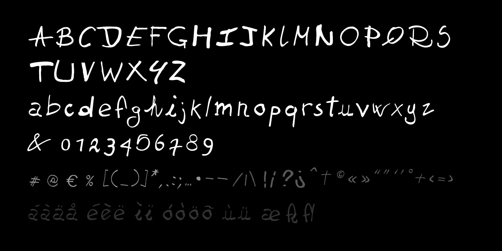5^G font charset