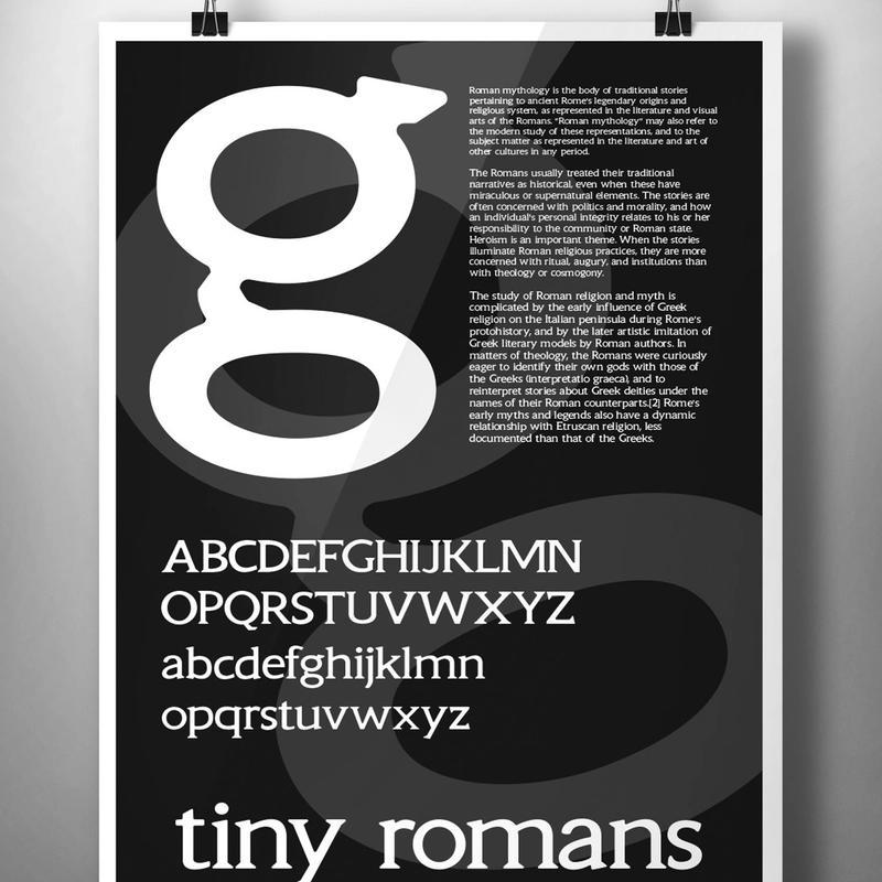 5360D Golembeski: Tiny Romans specimen poster