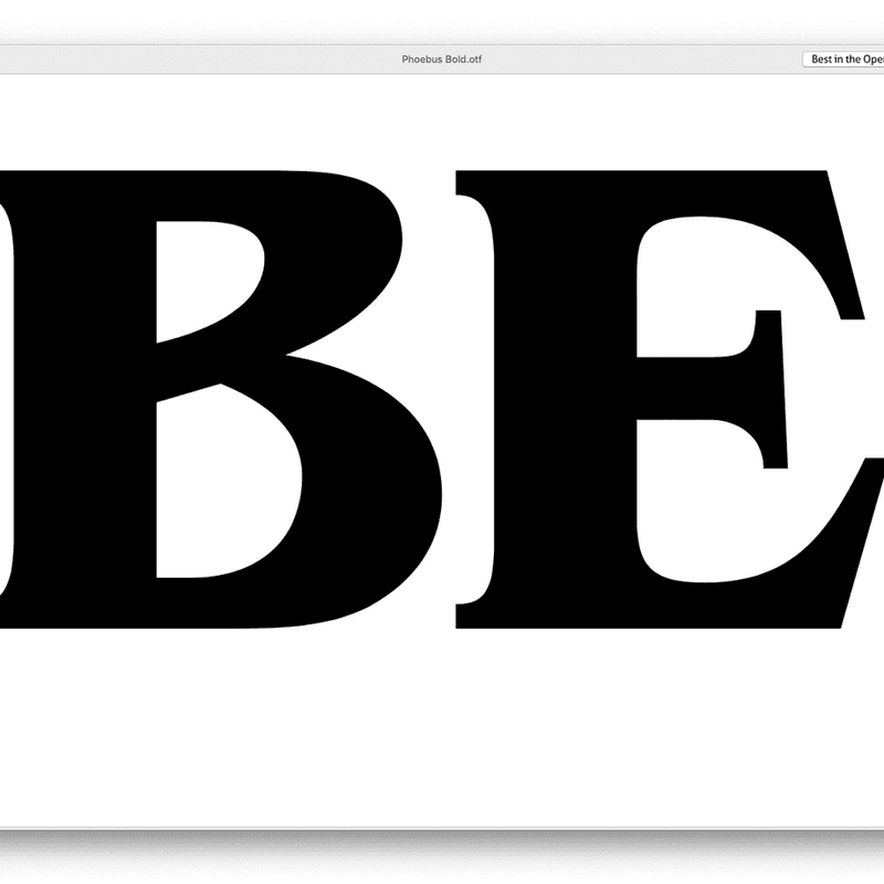 Phœbus .otf logo font preview