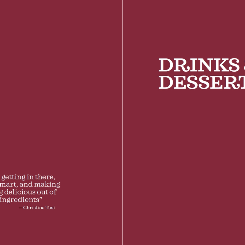The Method · Drinks & Desserts: opening page