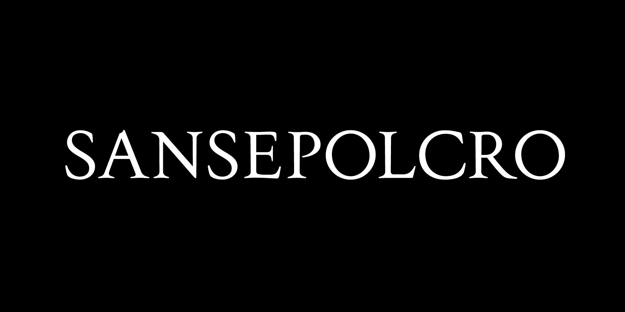 Sansepolcro font nameplate