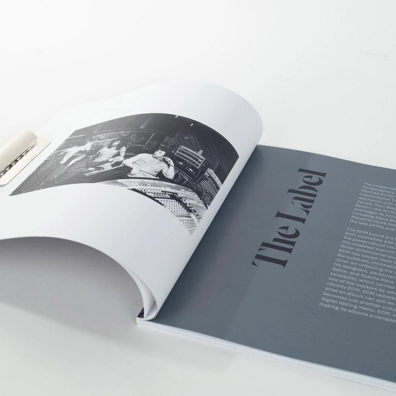 ECM Visually Sound · The Label spread (book)