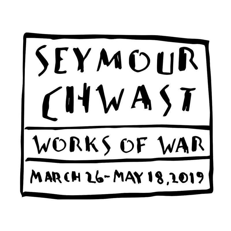 """Seymour Chwast: Works of War"" Exhibition Logo — originally handlettered by Seymour Chwast, edited by Blažo Kovačević"