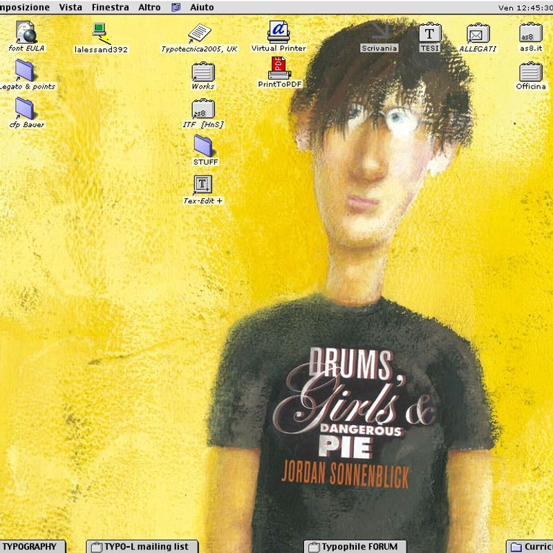 My MacOS 9 desktop at the time, © 2/2005