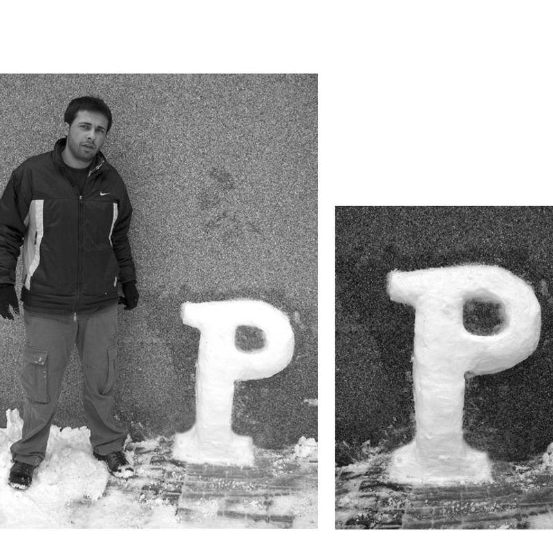 Snow Letters · 'P' by Özgür Demir