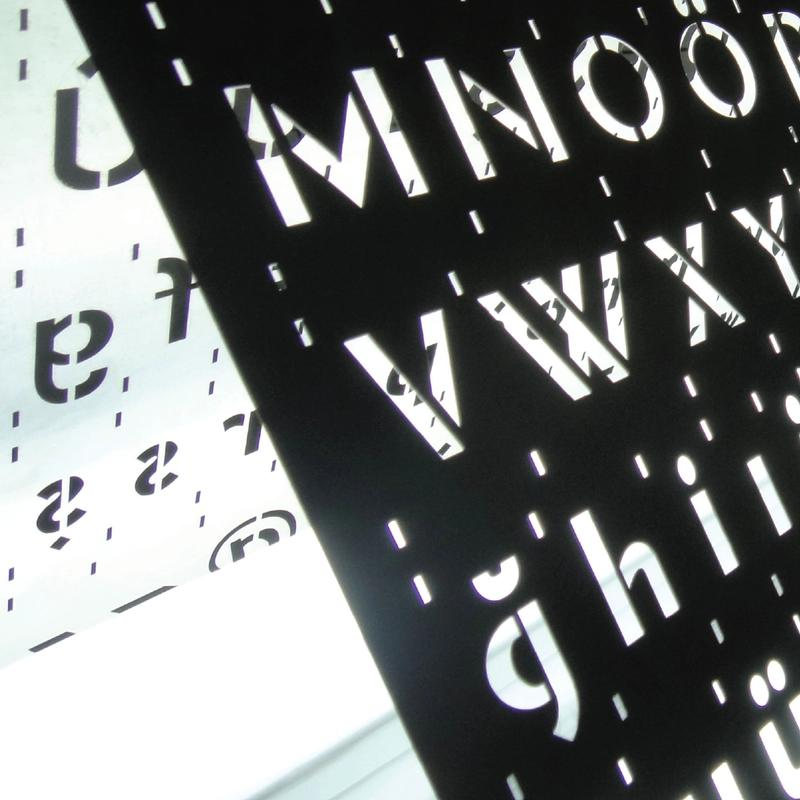 Stainless Steel Stencil: exhibition poster