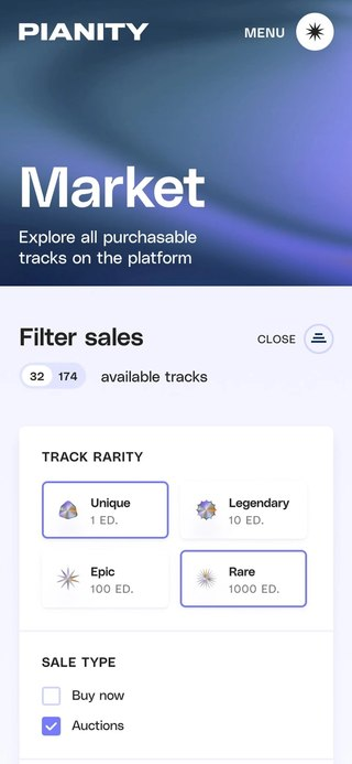 Mobile market page