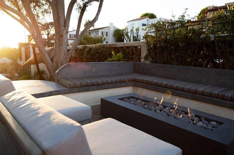 luxury fireplace bench