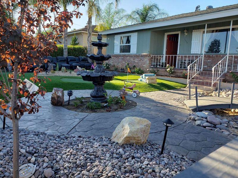 fountain front yard