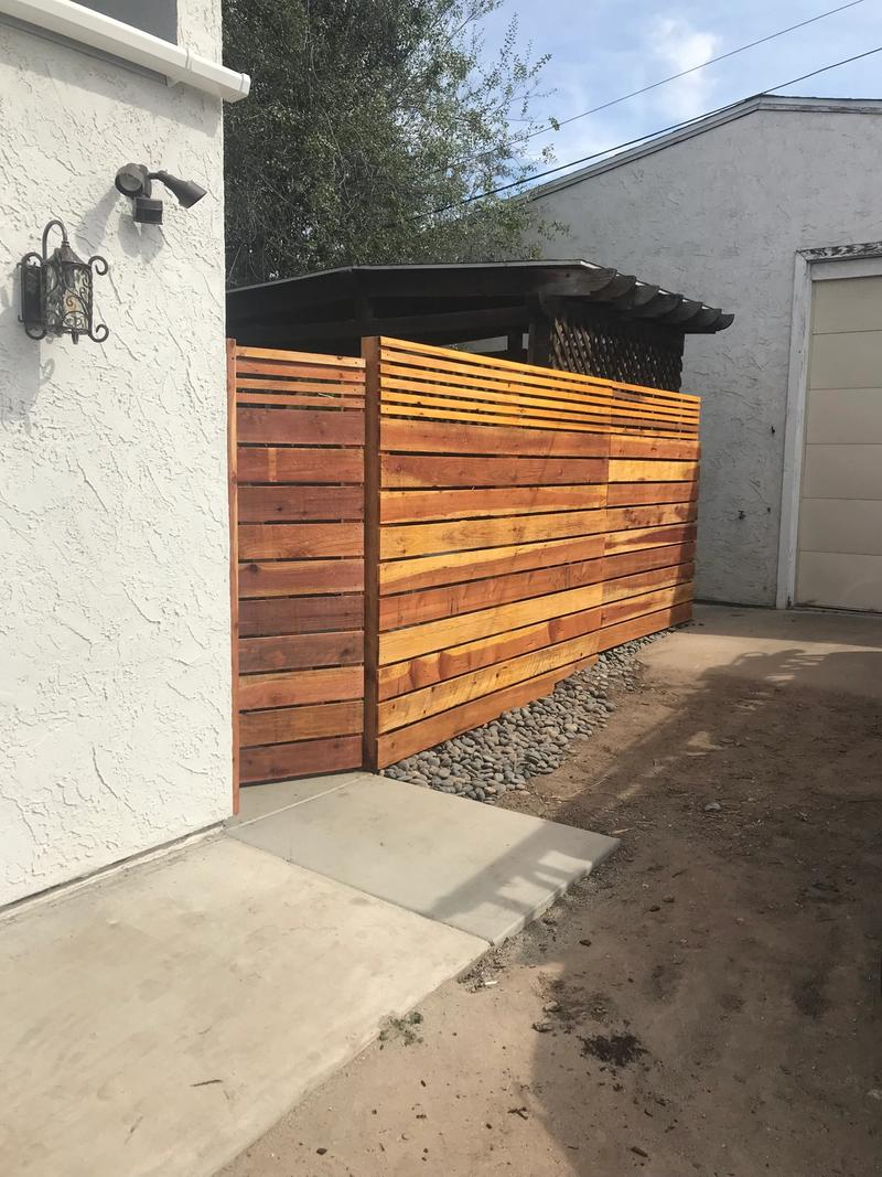 custom residential wooden barrier