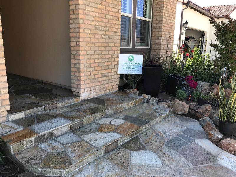 custom residential flagstone steps