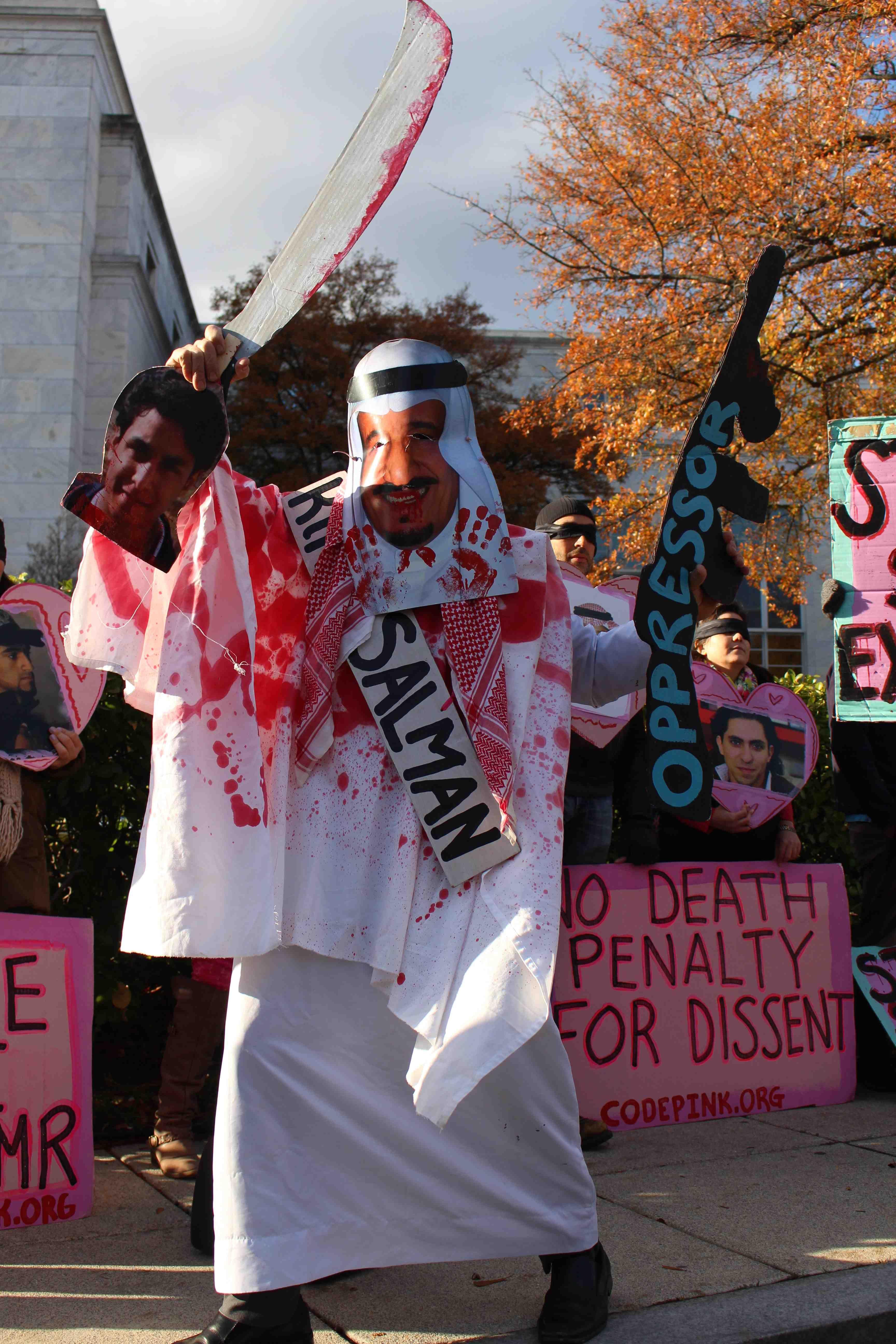 protesting saudi arabia