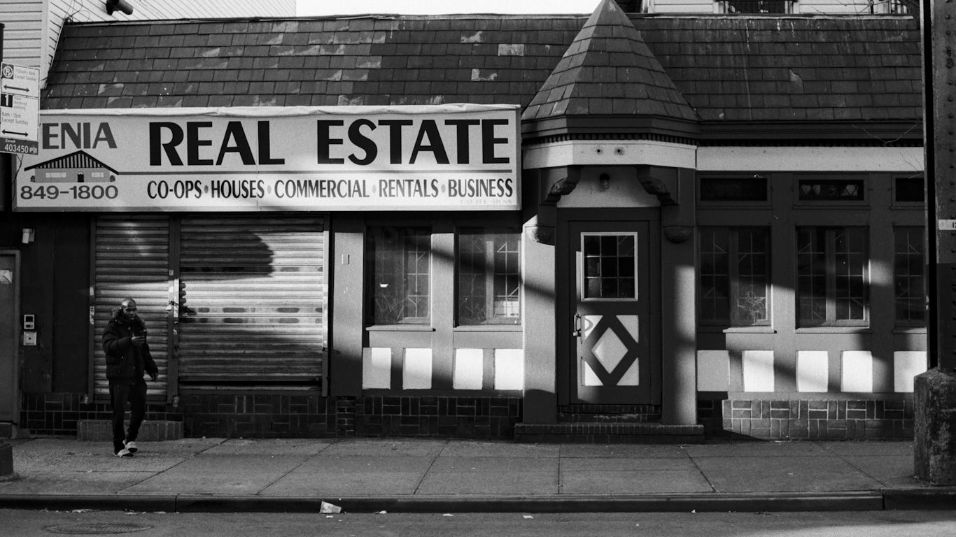 the front of a real estate business