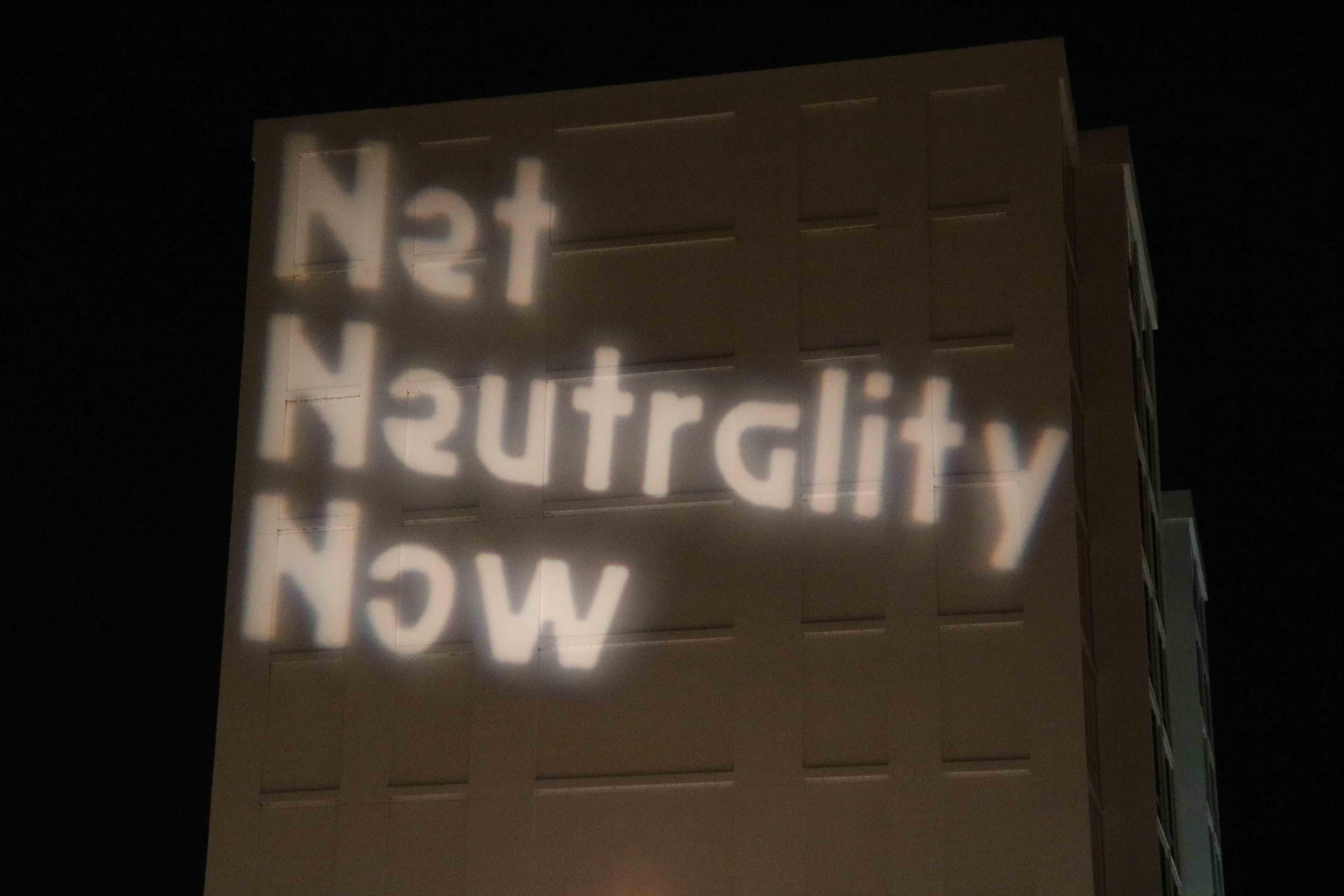 protesting selling off the internet to big Telecoms and fighting to protect Net Neutrality