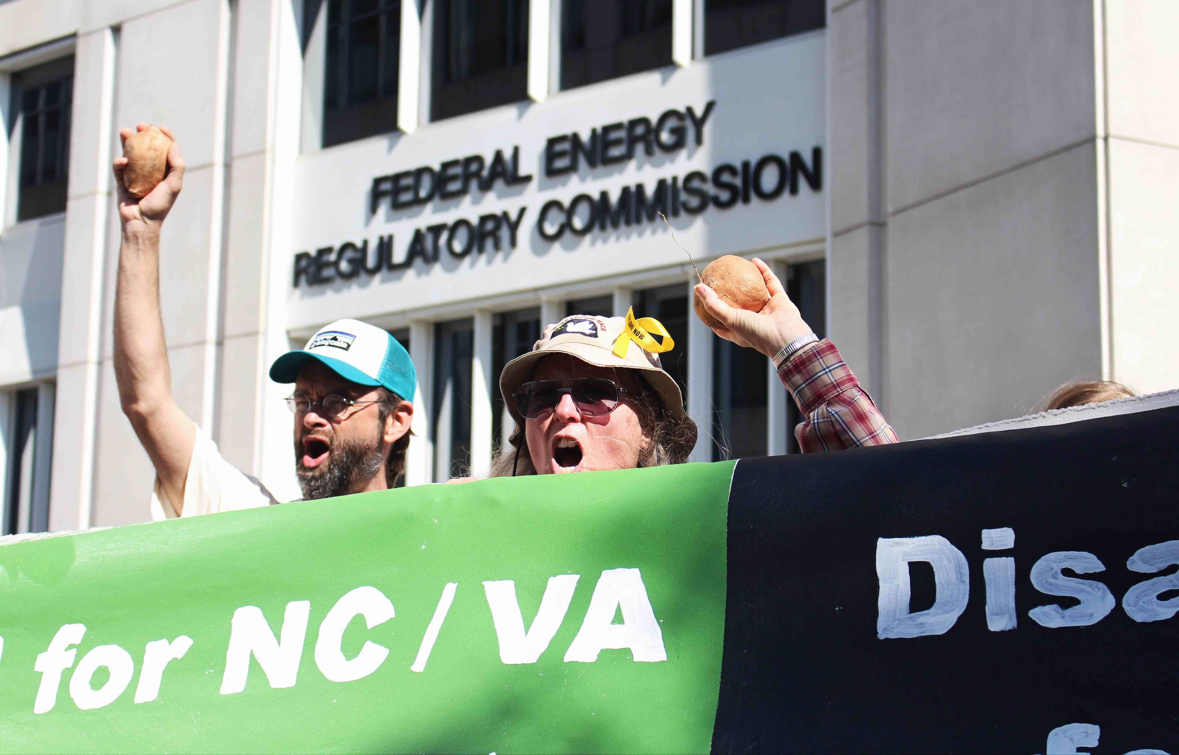 protest outside of FERC against proposed dirty energy projects