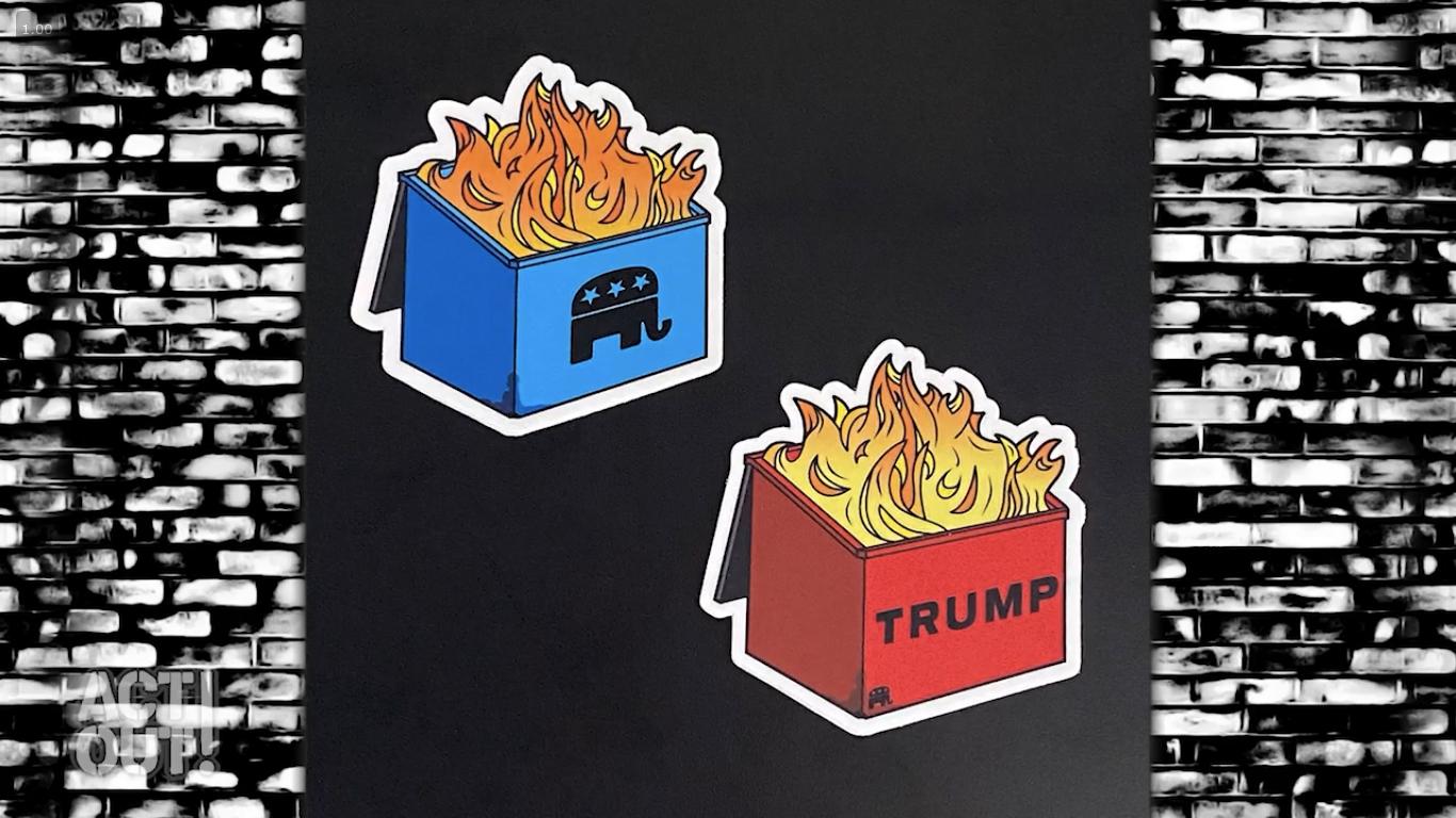 the democrat and republican dumpster fires