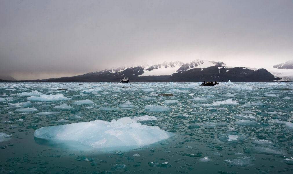 a report on the dangers lurking beneath quickly melting ice