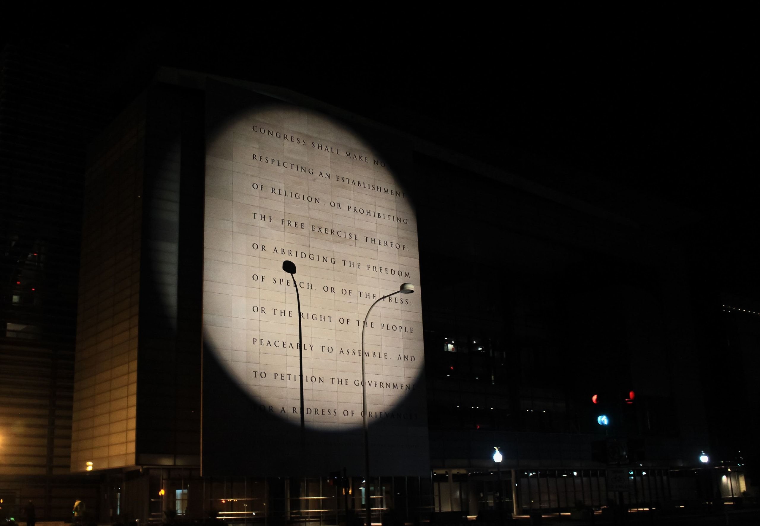 projections against police brutality