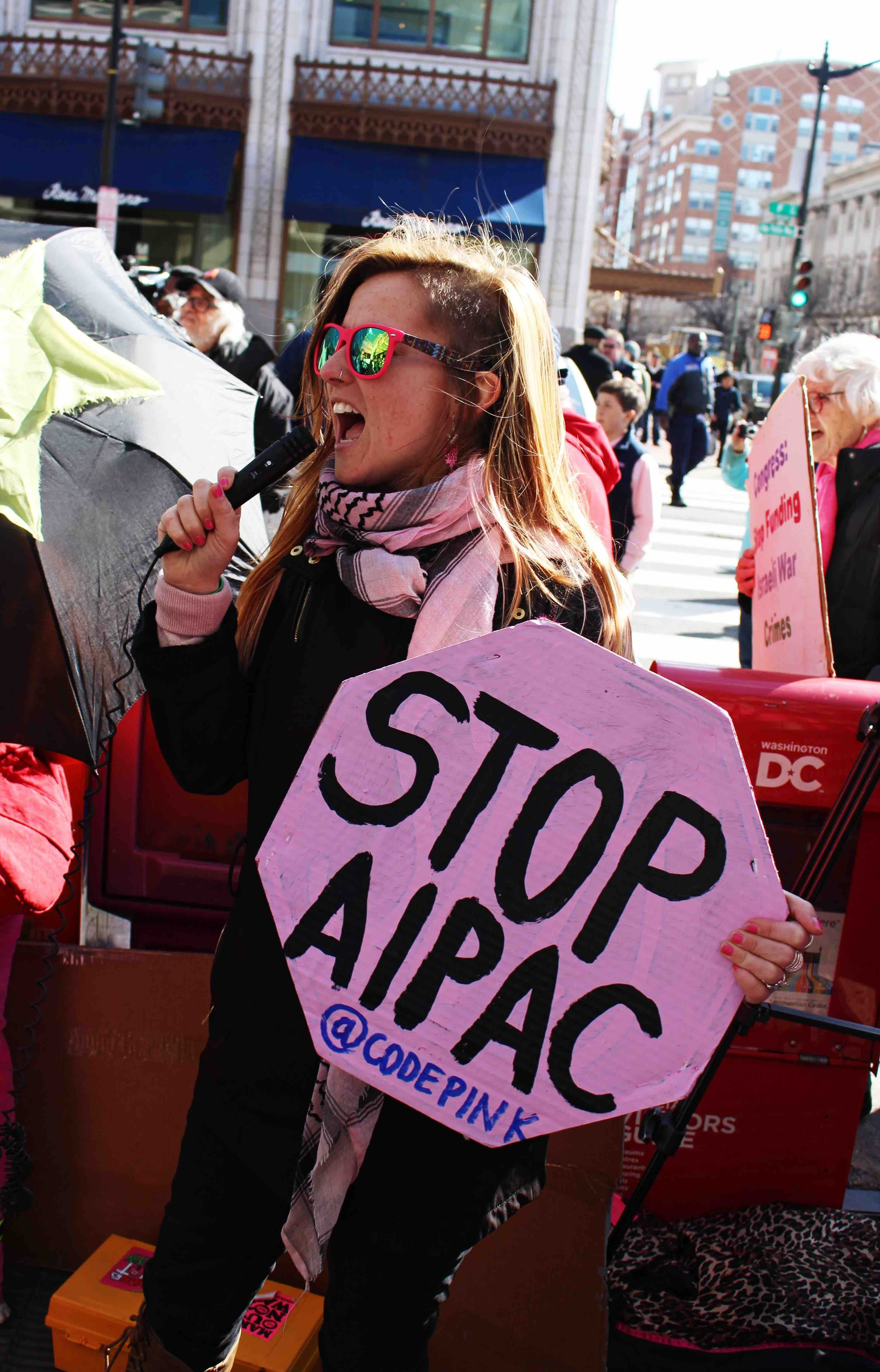 stop aipac protest