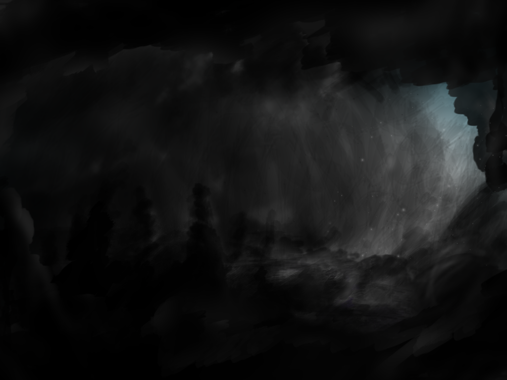 a dark abyss