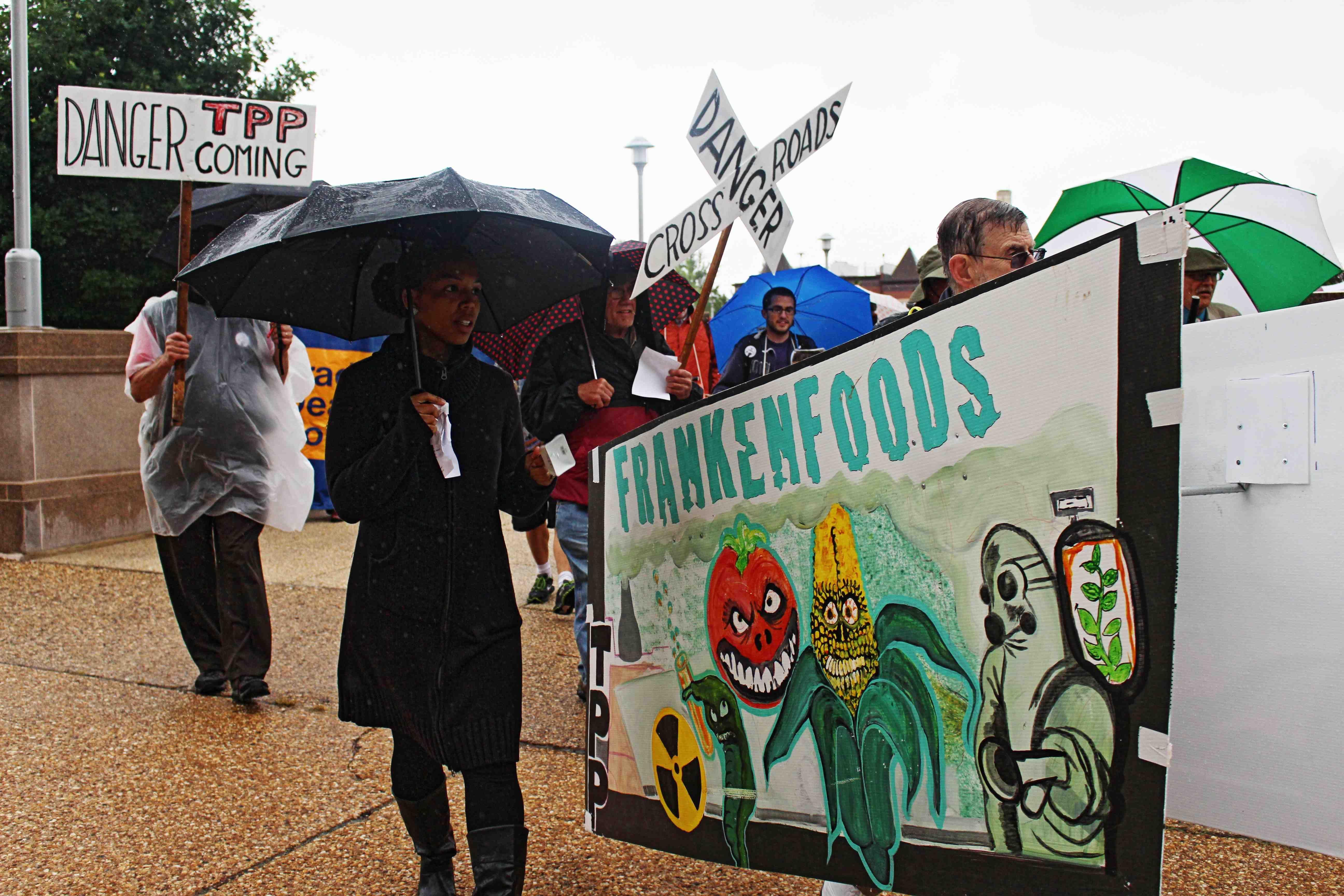protest in the rain, creative activism