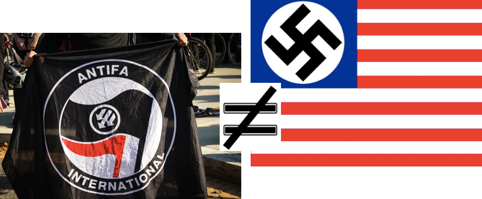 anti-fascists are not fascists. really, it's simple.