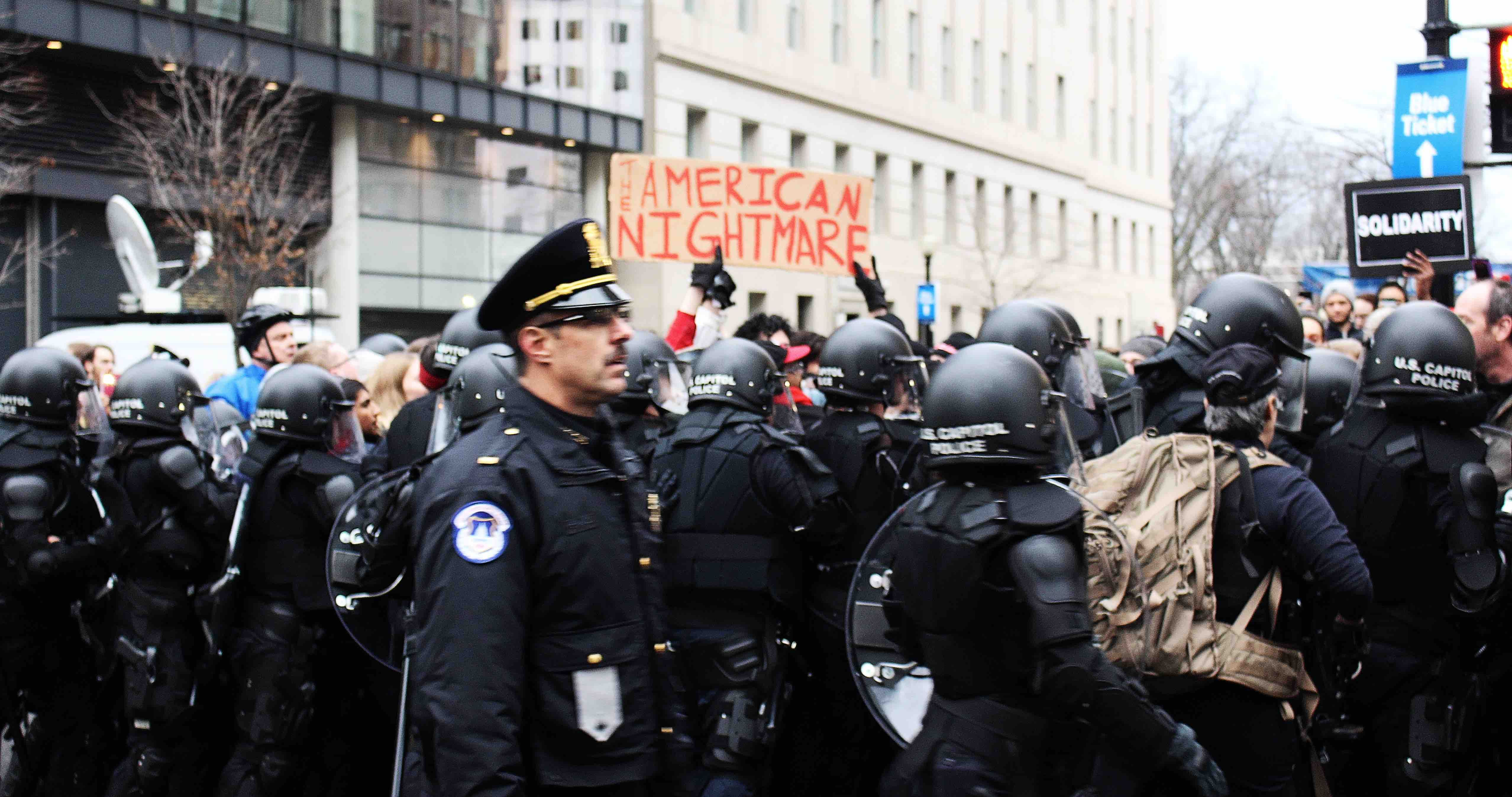 images from Trump inauguration in DC