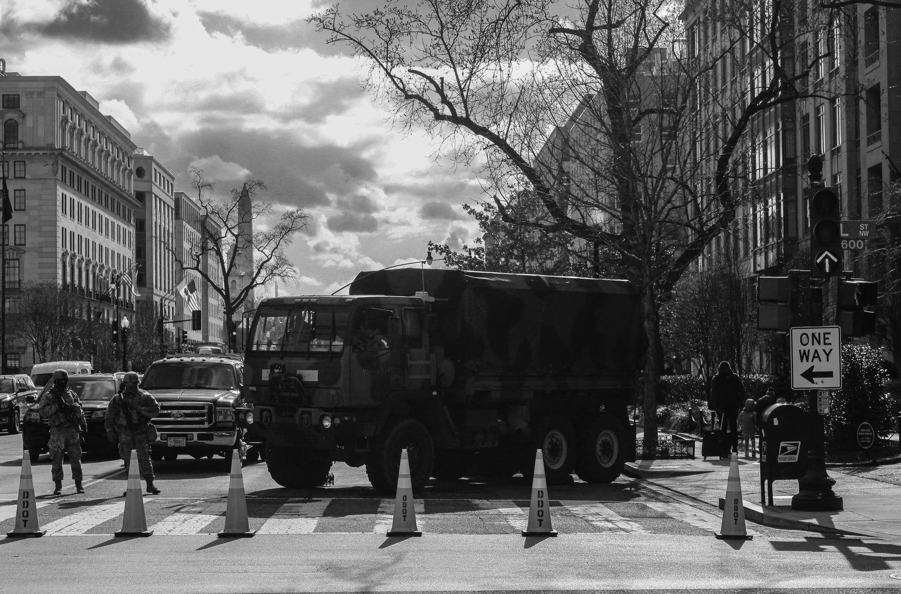 a military blockade