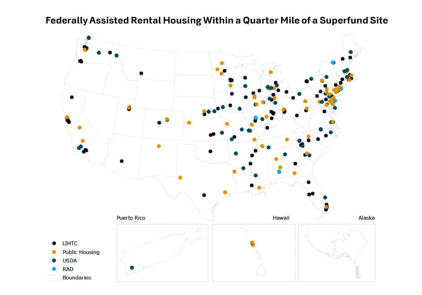 public housing close to superfund sites