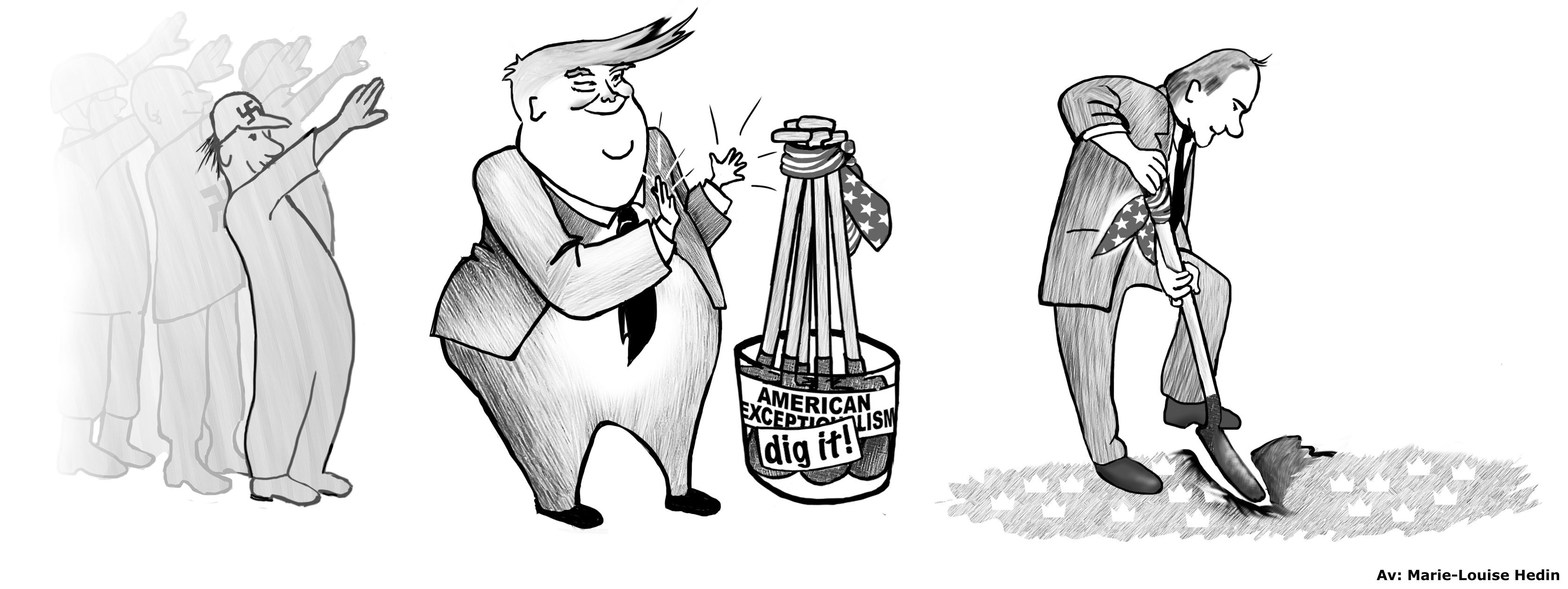 political cartoon mocking Swedish prime minister