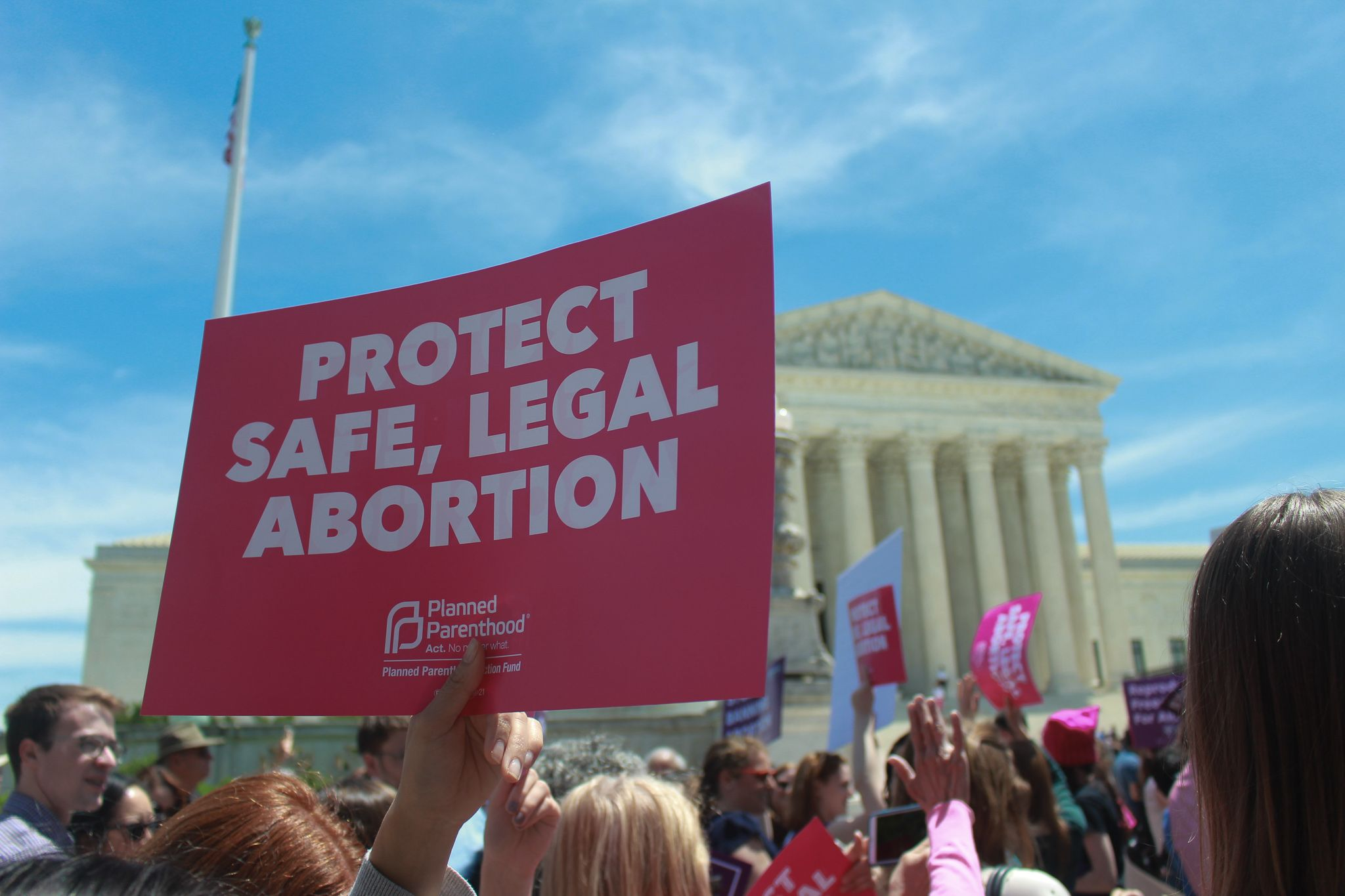 protect abortion access sign