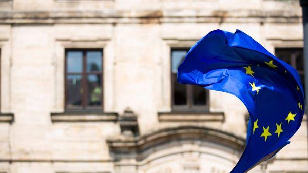 Foto av EU flagget