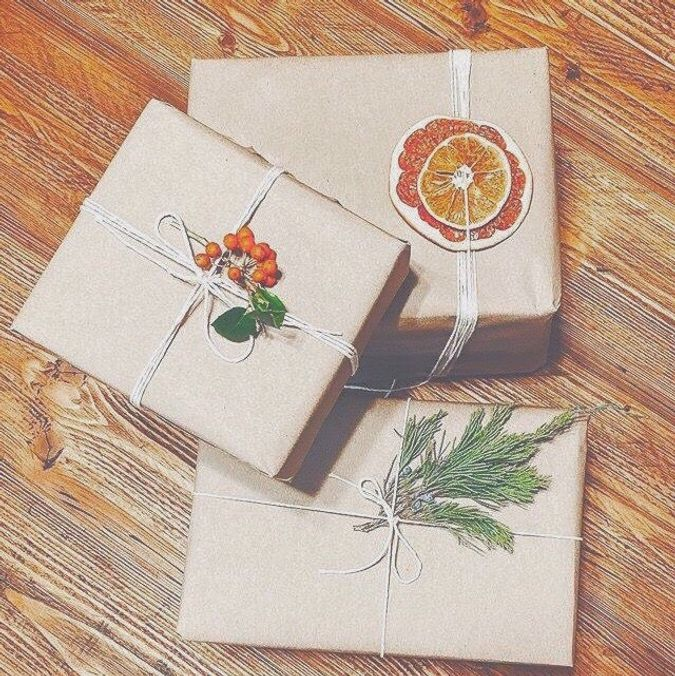Grønnere gaveinnpakning. Foto: Marte Soldal