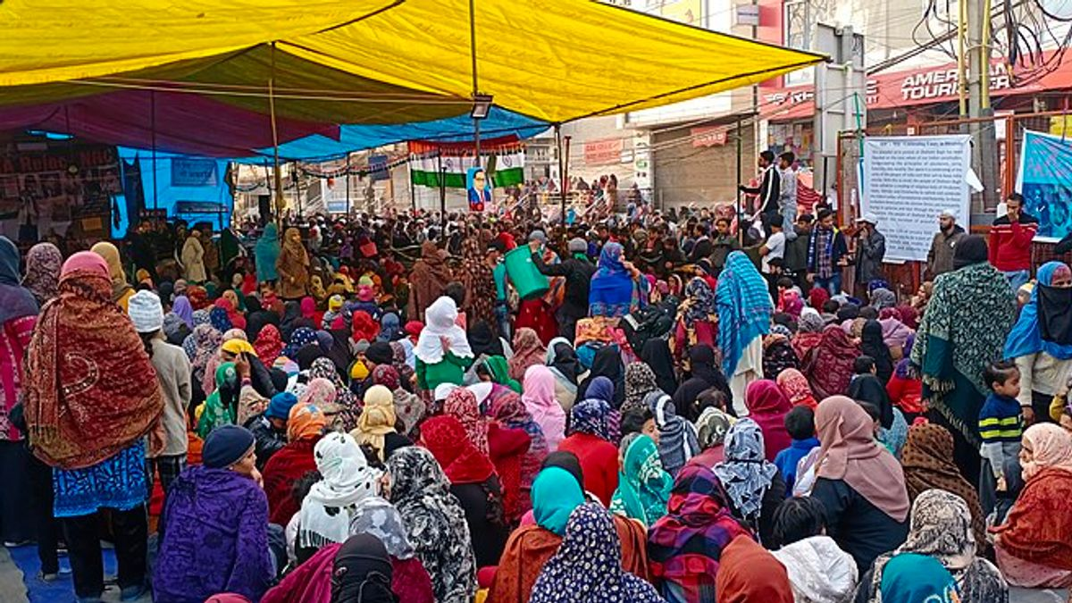 Demonstranter på Shaheen Bagh, Delhi
