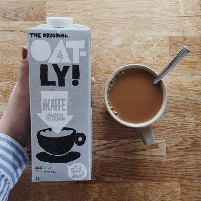 Plant melk og kaffe