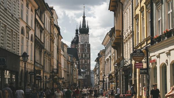 Foto av Krakóws gater