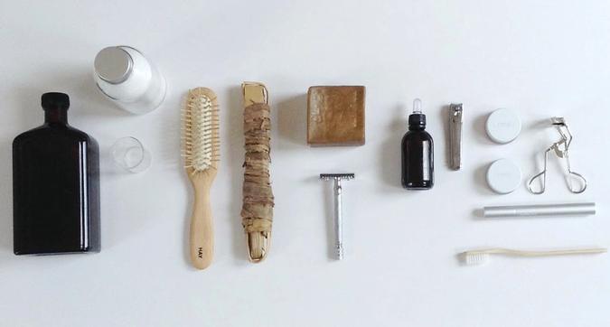 Foto av plastfri utstyr for badet