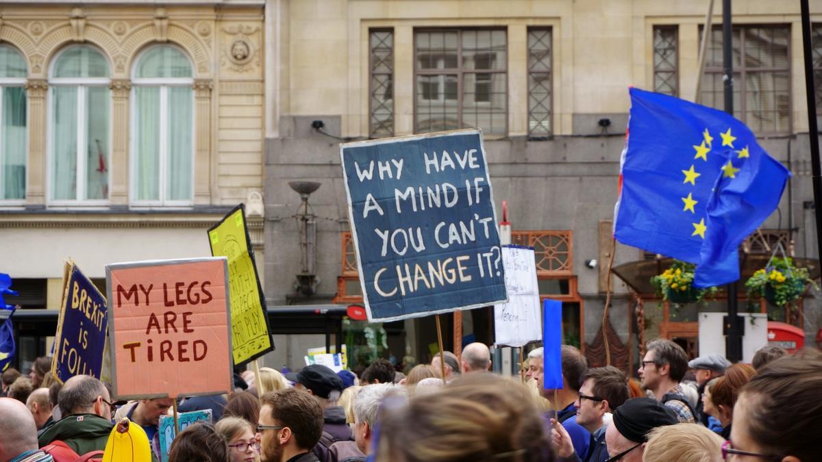 Foto av brexit demonstrasjoner i London